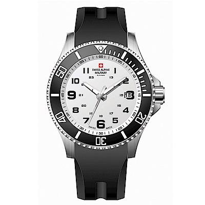 阿爾卑斯軍錶S.A.M 紅色警戒系列潛將-輕巡黑/橡膠錶帶/43mm