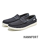 HANNFORT CARIBBEAN編織網布氣墊樂福鞋-男-午夜藍