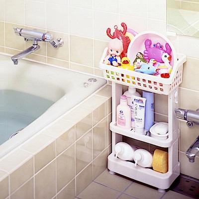 【日本ISETO】日製浴室斜取置物架-3層