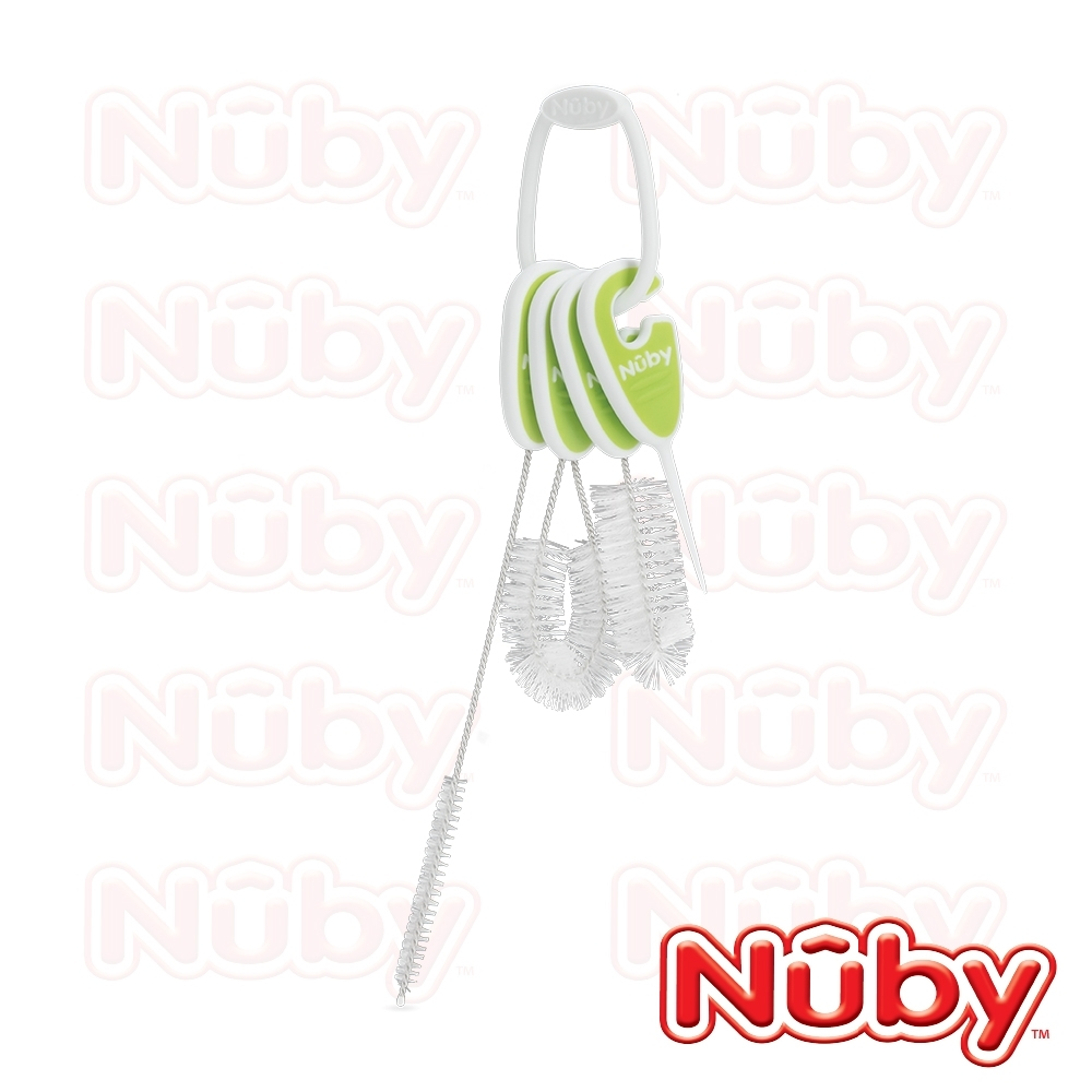 【美國 Nuby】水杯清潔刷4件組