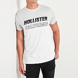 海鷗 Hollister HCO 經典印刷文字圖案短袖T恤-灰白色