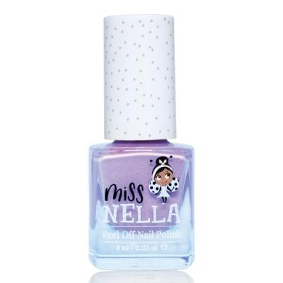 英國 【MISS NELLA】兒童水性可撕式安全指甲油 閃閃蝴蝶淡紫 MN06