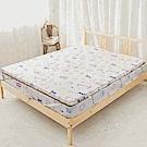 米夢家居-夢想家園-冬夏兩用100%純棉+紙纖蓆面5cm床墊布套-雙人加大6尺-白日夢