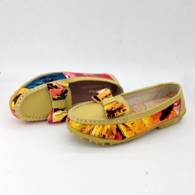KEITH-WILL時尚鞋館 (現貨+預購) 繽紛多彩大蝴蝶造型真皮鞋-黃