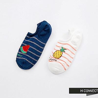 H:CONNECT 韓國品牌 -水果圖像條紋短襪組
