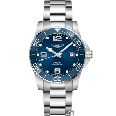 LONGINES 深海征服者陶瓷框潛水機械錶(L37824966)-藍/43mm