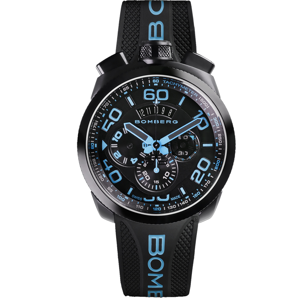 BOMBERG 炸彈錶 BOLT-68 NEON WHITE 計時手錶-45mm