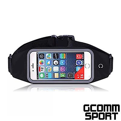 GCOMM SPORT 4.8吋 穿戴式音樂防汗水運動腰包 經典黑