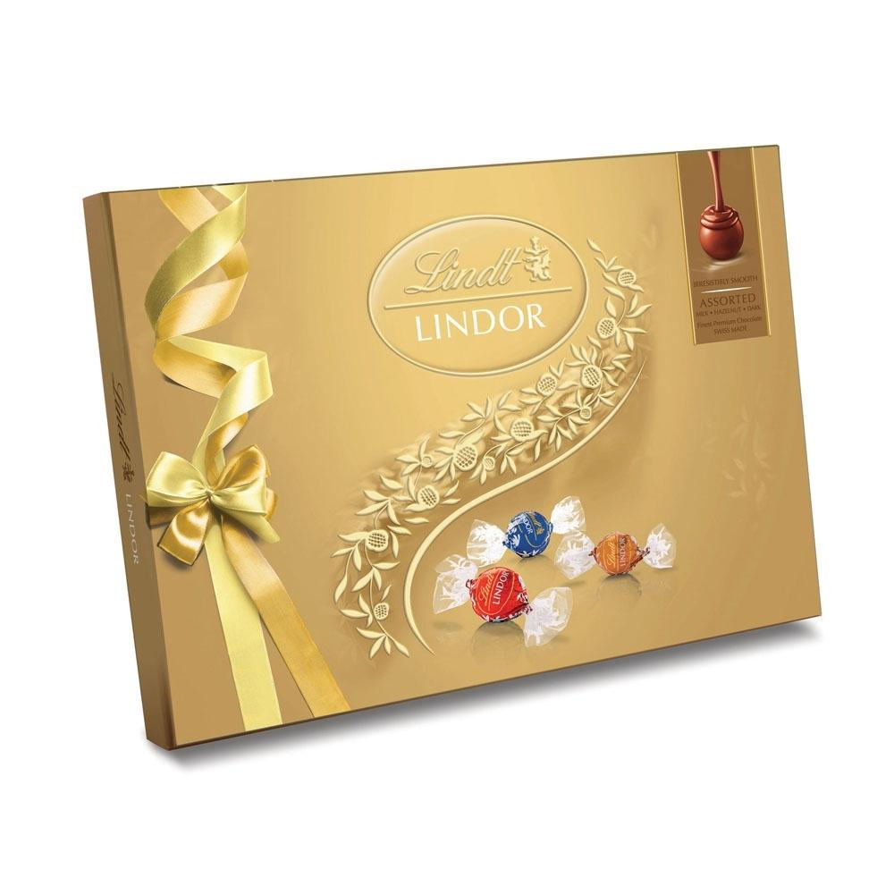 Lindt瑞士蓮 Lindor夾餡綜合巧克力禮盒 14入(168g)
