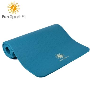 FunSport yoga-好動女孩厚踩瑜珈墊-(10mm)-送雙面珈人背帶(NBR環保材質)