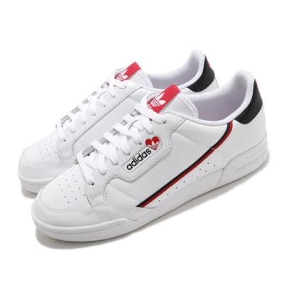 adidas 休閒鞋 Continental 80 復古 男女鞋 愛迪達 三葉草 皮革鞋面 穿搭推薦 白 紅 FZ1818