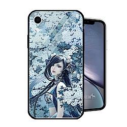 張小白正版授權 iPhone XR 6.1吋 鋼化玻璃鏡面防滑手機殼(純陽)