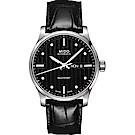 MIDO美度 Multifort先鋒系列 經典皮帶腕錶-黑/42mm