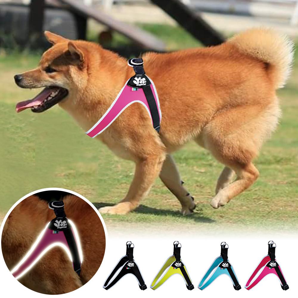 YSS 寵物PU綿防水耐用3D反光Y型一秒穿胸背帶XL(4色)