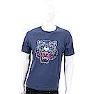 KENZO Tiger 虎頭印花海軍藍棉質T恤(男款)
