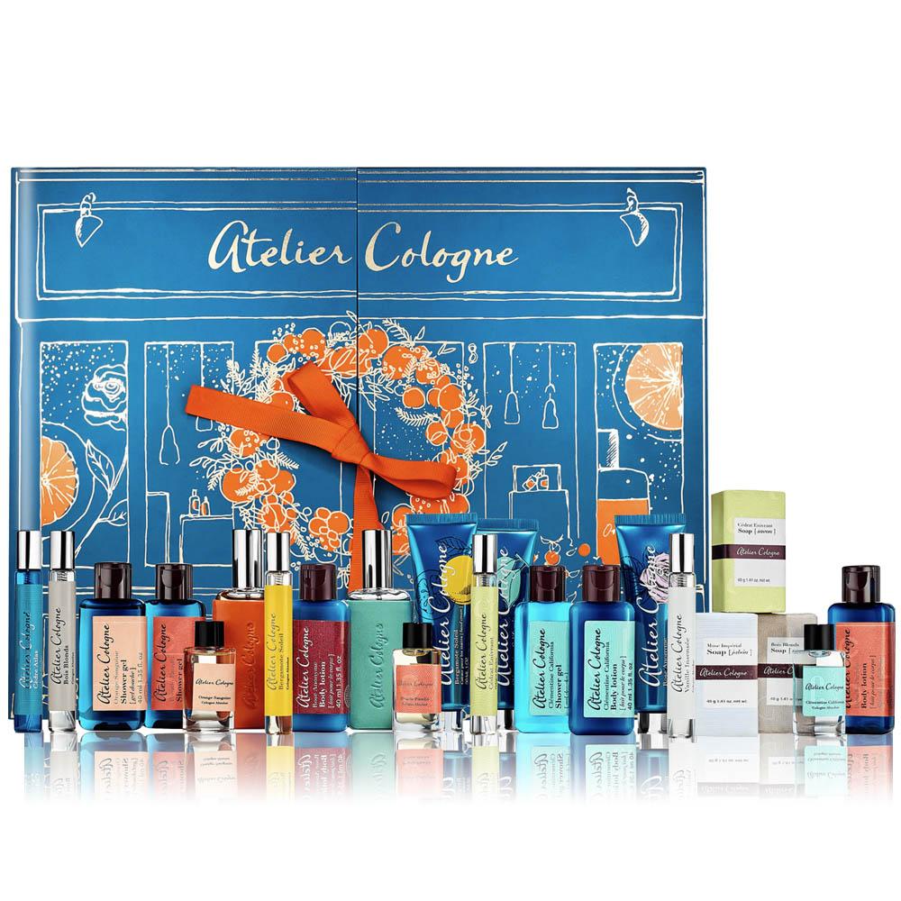 Atelier Cologne臻緻聖誕倒數月曆-古龍水+皮套+護手霜+香皂+沐浴凝露+身體