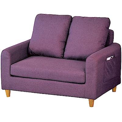 綠活居 馬里布時尚亞麻布二人座沙發椅-124x80x78cm免組
