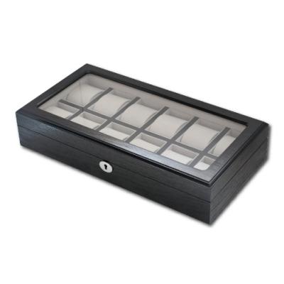 PARNIS BOX│原木手錶收藏盒【12只入】外黑內黑邊 (木盒04)