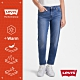 Levis 男友褲 中腰寬鬆版牛仔褲 WARM JEANS 機能保暖內刷毛 中藍刷白 及踝款 彈性布料 product thumbnail 2