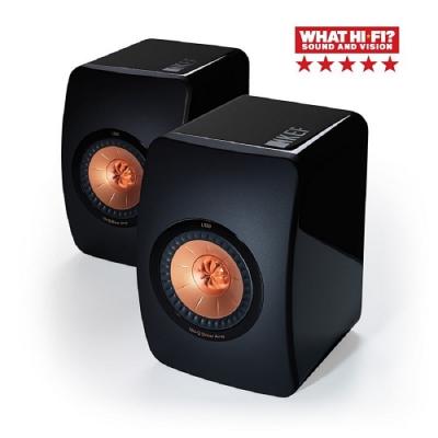 福利品 英國 KEF LS50  旗艦Hi-Fi 劇院喇叭  黑色 簽名版