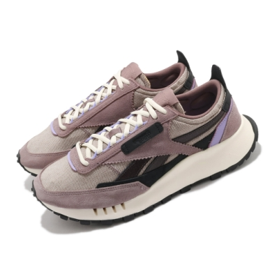 Reebok 休閒鞋 CL Legacy 運動 男鞋 聯名 簡約 麂皮 質感 球鞋 穿搭 紫 米白 H01280