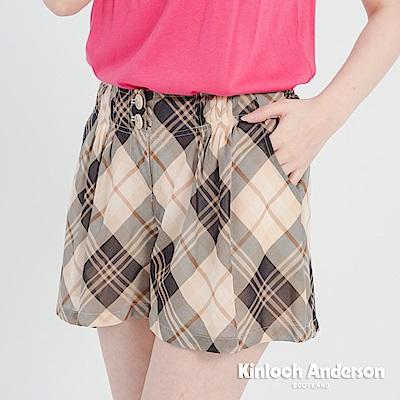 【Kinloch Anderson金安德森女裝】平塔克飾釦格紋短褲