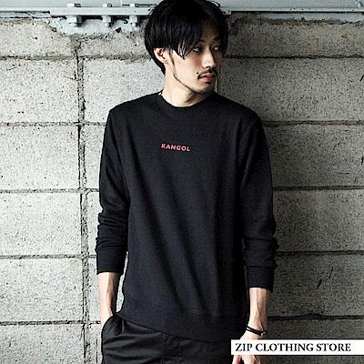 基本素色LOGO印刷刺繡套頭大學TEE(4色) ZIP日本男裝