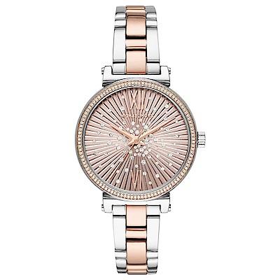 MICHAEL KORS 璀璨夜空晶鑽時尚手錶(MK3972)-雙色金/36mm