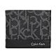 Calvin Klein黑色PVC經典印花logo雙折短夾 product thumbnail 1