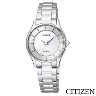 CITIZEN星辰  Eco-Drive光動能藍寶石女仕手錶-EM0401-59A