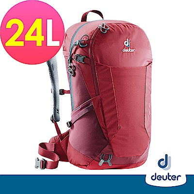 【德國DEUTER】 FUTURA 24L透氣網架背包(3400118莓紅/紫紅/登山包)