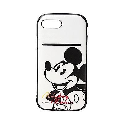 iPhone 8/7 Plus 海外限定 迪士尼 軍規防摔 插卡 軟殼 5.5吋-米奇白