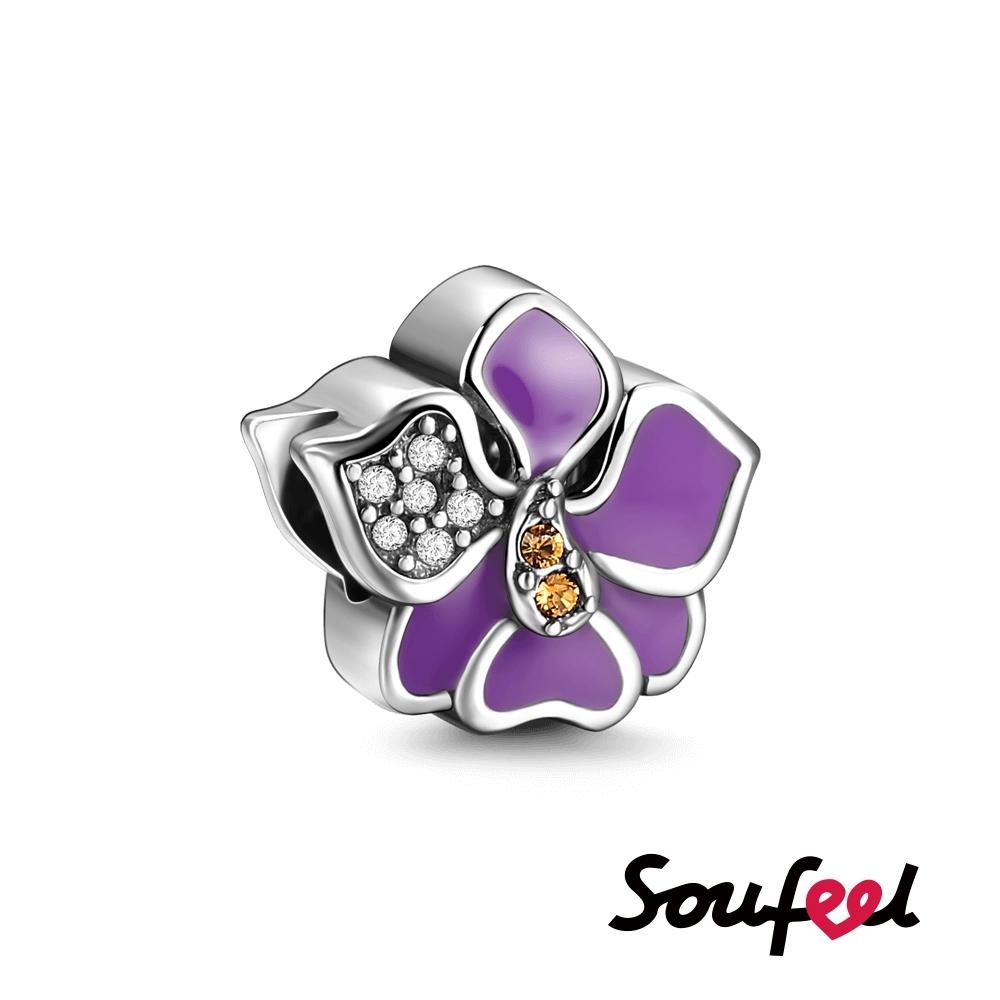 SOUFEEL索菲爾 925純銀珠飾 蘭花 串珠