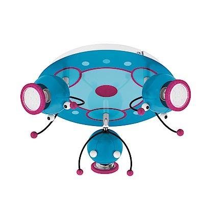 EGLO歐風燈飾 童趣風三燈式圓型吸頂燈
