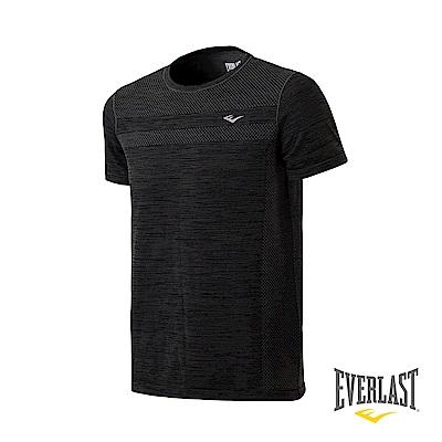 EVERLAST 機能無縫短袖T恤-男-深麻灰