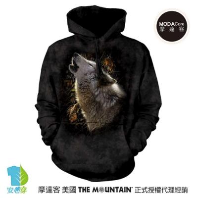 摩達客 美國The Mountain 秋狼之歌  環保藝術長袖連帽T恤