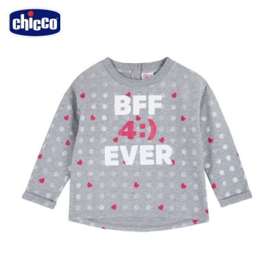 chicco- TO BE Baby-銀圓點長袖上衣
