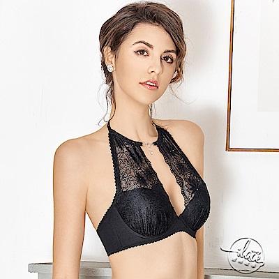 LADY 花影情挑系列 C-E罩 削肩造型胸罩(誘惑黑)