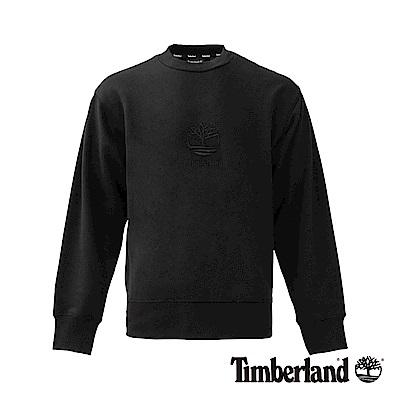 Timberland 男款SLS 黑色 大樹LOGO大圓領運動衫|A1N9K