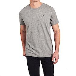 海鷗 Hollister HCO 經典刺繡標誌素面短袖T恤-灰色