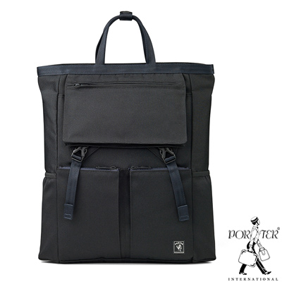 PORTER - 城市旅者UNION輕量造型後背包 - 黑