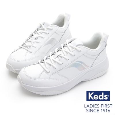 Keds K-89 復古曲線厚底老爹鞋-白
