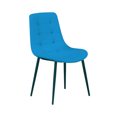 H&D 海柔藍色皮餐椅