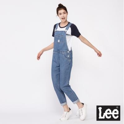 Lee 吊帶褲 Sailing Crew 牛仔連身長褲 女款 中藍色