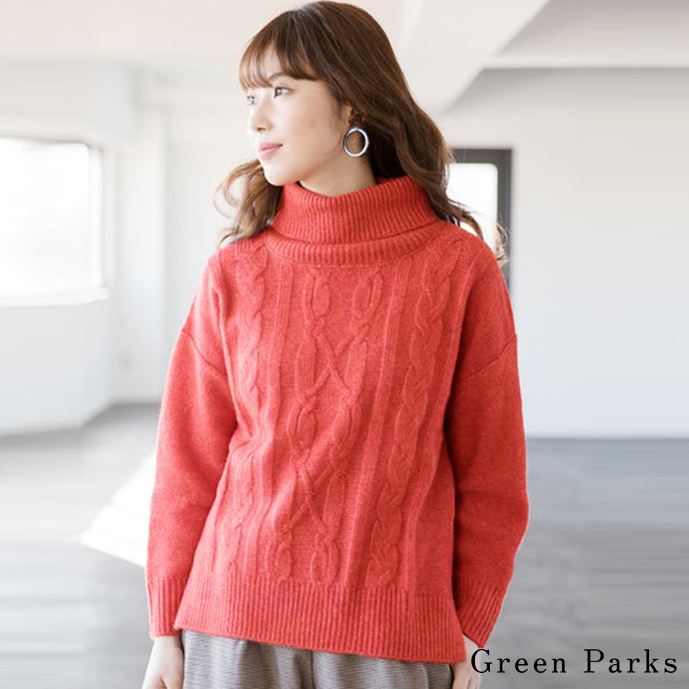 Green Parks 高領麻花針織上衣