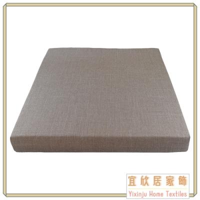 【宜欣居傢飾】亞麻卡其 仿麻精緻實木椅座墊 6入 (55*55*5cm) 台灣製