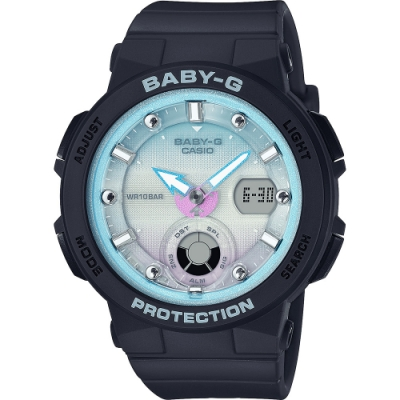 CASIO 卡西歐 BABY-G 仲夏海洋風時尚手錶(BGA-250-1A2)