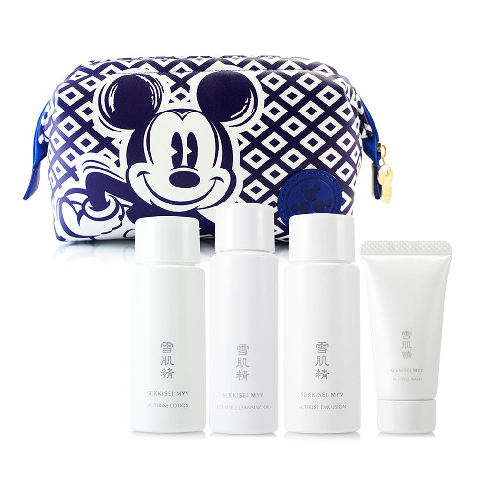 KOSE高絲 雪肌精御雅活米微酵美膚四件組贈迪士尼化妝包