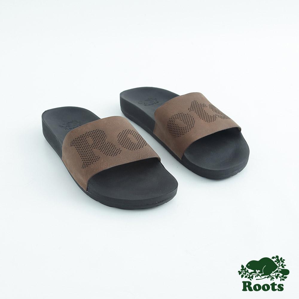 Roots男鞋- 經典皮革輕便鞋-棕