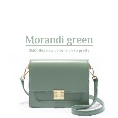 ANNA DOLLY 甜美細緻Tender夾層小方包 莫蘭迪綠